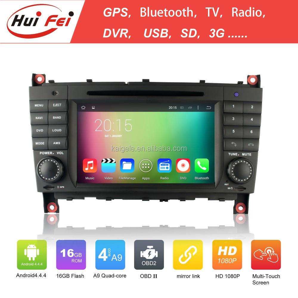 support bluetooth wifi touch screen car dvd with gps for Benz W203 android system
