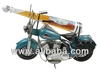 Blue Harley Bike with Bourbon Whiskey
