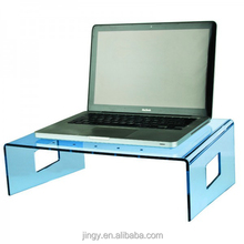 small light blue clear acrylic multipurpose laptop writing bed table
