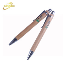 eco friendly advertising recycled ballpoint pen cheap promotional logo click bamboo pen
