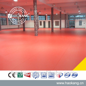 4.5mm Thick Date Red High End PVC Table Tennis Court Sports Floor Vinyl Roll Gemstone Pattern