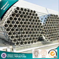 Tianjin galvanized surface treatment steel pipe/ tube 6/ gi tube for greenhouse