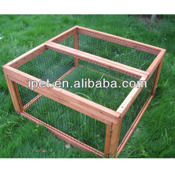 Large outdoor wooden guinea pig cages with run ru008 buy for Buy guinea pig cage