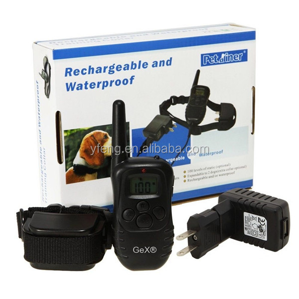 300M 100 Shock Level Pet Dog Training Collar With Remote Control
