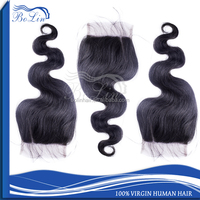 Hot Selling Natural Color Body Wave 5A Grade Virgin Brazilian Hair Cheap Lace Top Closure