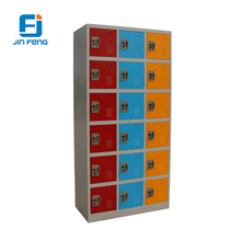 Colorful 18 door metal cabinet storage wardrobe almirah small compartment locker