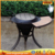 Outdoor conical whole cast iron barbecue firepit heater
