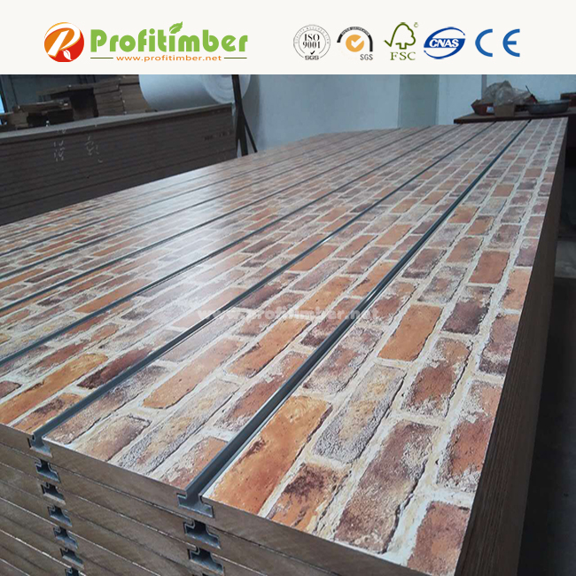 Grooved MDF Wooden Board Slat Wall Display