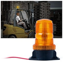 30 LED Amber/Yellow 18W Emergency Warning Flashing Safety Strobe Beacon Light for Forklift Truck Tractor Golf Carts UTV Car Bus