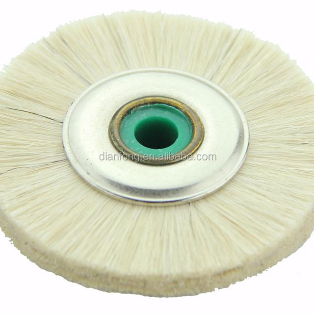 03G48 48mm White Goat Hair Soft Dental Polish Brush