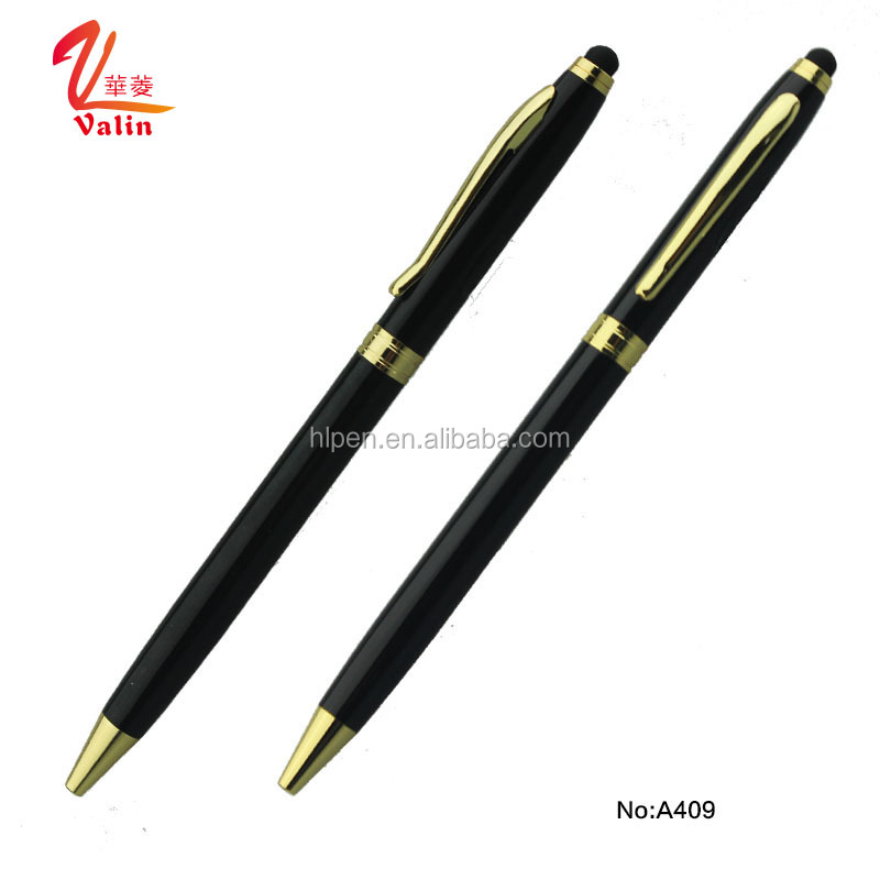 Wholesale Price Thin Stationery Ballpoint Pens Slim Metal Pen
