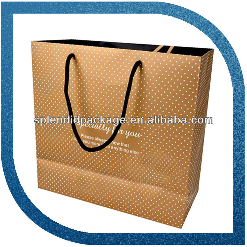2016 bestselling superior luxury UV paper shopping bag