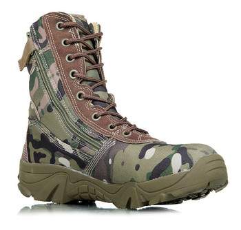 Camo Zipper Delta Army Tactical Military Boots