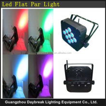 Stage wireless dmx led slim par RGBW 4in1 / Disco Built in battery flat par can led / DJ 9 x 10w quad par 64