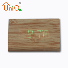 Digital Type and Wood Material led clock desk clock