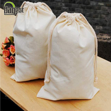 China Factory Directly Sale Plain Canvas Drawstring Shopping Bags