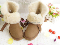 2015 fashion sheepskin ankle height totes womens snow boots