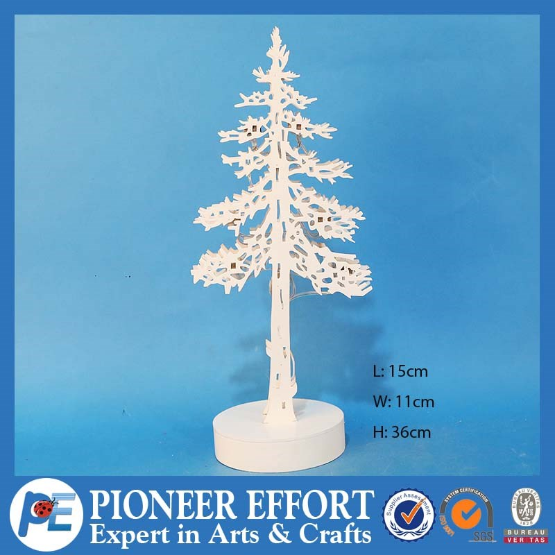 Most beautiful wooden Christmas tree decoration with LED lights