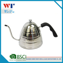 900ML satin finish stainless steel pour over coffee kettle