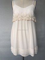 Elegant Chiffon Casual Pleated with Sequins Embroidery Jumper Dress