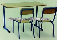 Cheap university high school/primary student reading table and chairs