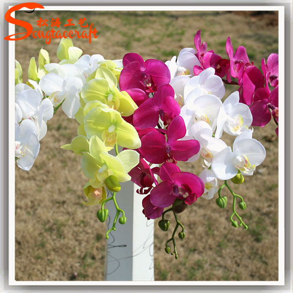 wholesale white artificial orchid flower silk flower fake flowers for home decorate
