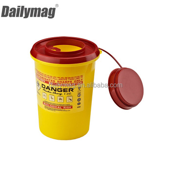 2018 Hot sale plastic Medical Waste sharps Containers small disposal container small 250ML