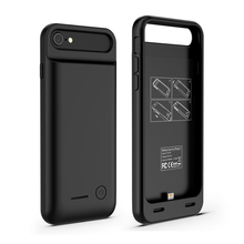MFI 3100 mAh portable backup TPU+ABS wholeset Battery Power Case for iPhone 7/7plus with protect bumper ,OEM provided