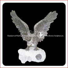 Hand Carved Stone Eagle Sculpture
