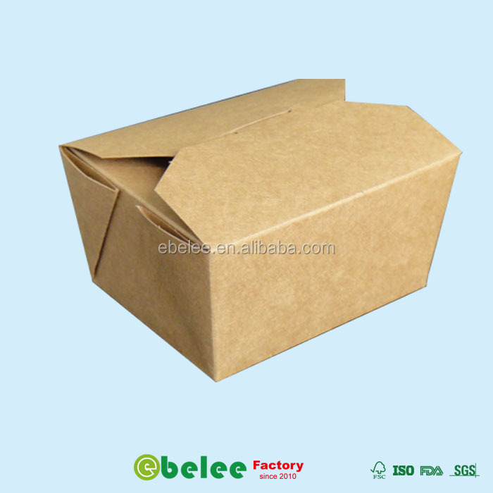 kraft paper cardboard lunch box take out