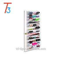 36 pair black and white hanging over door shoe storage rack shoe organizer