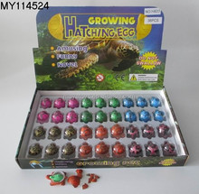 36pcs/lot Novel Water Hatching Inflation turtle Egg Watercolor Cracks Grow Pet Egg Educational Toys Interesting Gift