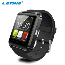 2017 hebrew language u8 smart watch 1.54inch touch screen bluetooth wrist watch mobile phone