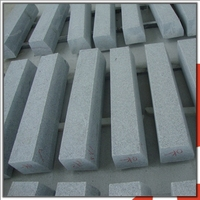G603 Sesame White Granite Curb Ramp Kerbstone