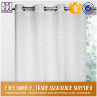 Wholesale Polyester Stripe Printed window curtain set
