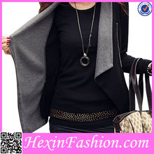 Black and Grey Autumn&Spring Lady Blouse Wholesale