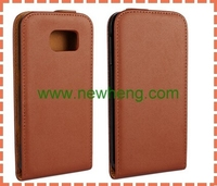 UP and Down Style Flip vertical Leather Case For Samsung Galaxy S6