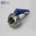 Sanitary Stainless Steel Thread Butterfly Valve with Plastic Multi-Position Handle