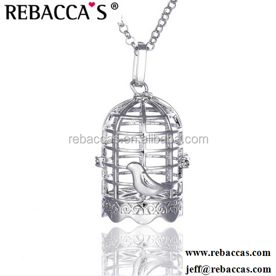 Latest Design of Pearl Cages, Silver Tone Cute Fish Pearl Cage Pendant