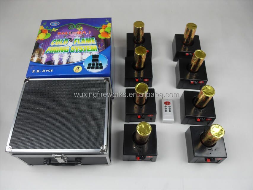 d08-8 channels Wireless firing system for stage cold fountain fireworks+NO.5 battery