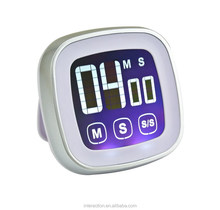 Mini portable digital timer cheap count down timer touch setting LCD timer with color screen
