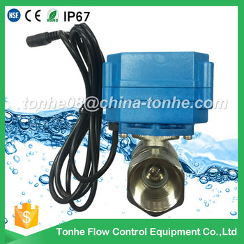 "DN20 3/4"" 2 way 12v 24v motor operated motorised motorized ball valve"