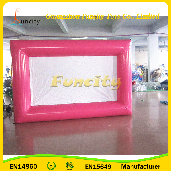 2016 Promotional PVC Tarpaulin Outdoor Advertising Screen, Inflatable Movie Screen LED Screen Indoor for Sale