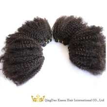 Top Quality 7A Raw Unprocessed Virgin Brazilian Hair 4C Afro Afro Kinky Human Hair Weave