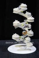 Acrylic wedding cake display stand