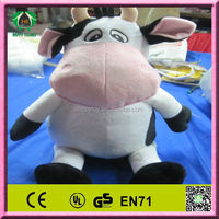 HI CE 2014 hot sale funny cow plush toy