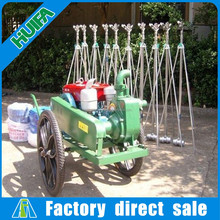 Agriculture usage 10 sprinklers mobile sprinkler irrigation system with diesel pump