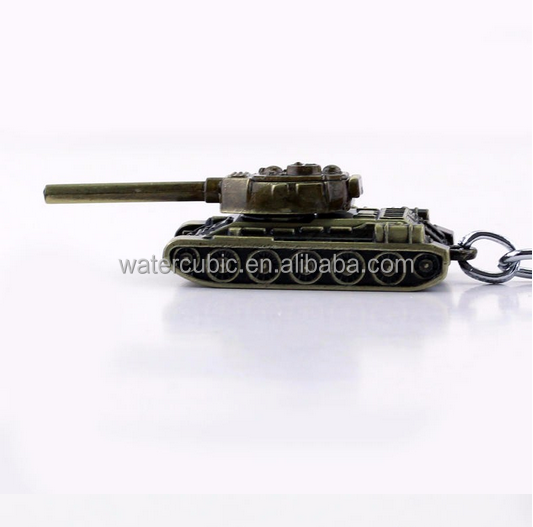 2017 popular 2Colors World of Tanks WOT New Metal Tank Key Ring Keychain Pendant Alloy Metal Collection Gift Hot Game Jewelry