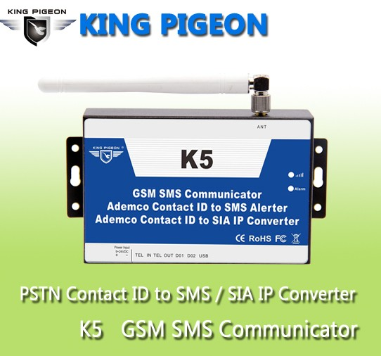 GSM CID converter for converting the PSTN to SMS alerter via GPRS