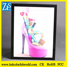 Led slim snap frame light box advertising materials light box menu board aluminum frame display